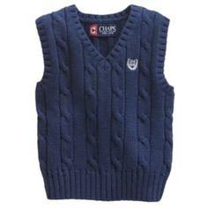 Chaps sweater vests at Kohl's - This boys' Chaps sweater vest features a cable-knit design. Shop our full line of boys' Chaps apparel at Kohl's. Cable Knitting Patterns, Knitting Designs, Hand Knitting, Mens Vest Pattern, Hand Knitted Sweaters, Well Dressed, Men Sweater, Boys, Fun