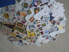 Stamps 75 Cancelled International stamps.