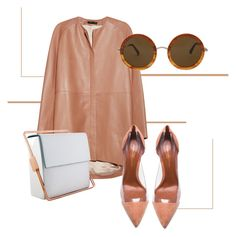 """""""-// Errands x Business Meetings"""" by saidahgray on Polyvore featuring The Row, Gianvito Rossi, Lautēm, Leather, Tan and fall2015"""
