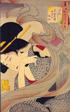 UKIYO - E.....BY TSUKIOKA YOSHITOSHI.....BING IMAGES.....ONE OF MY TATTOOS.....