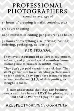 photography price list session packages pricing sheet chalkboard