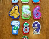 Finger Puppet Numbers Design for Embroidery Machine