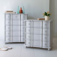 Otterley chest of drawers painted in Scuffed Grey for an antique french vintage style