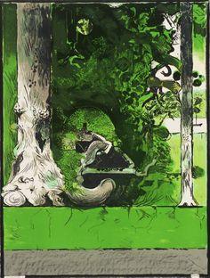 Graham Sutherland OM 'La Foresta I', © The estate of Graham Sutherland 24. August, English Artists, New Artists, Artist Art, Landscape Art, Graham, Modern Art, Fine Art, Art Prints