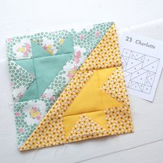 Charlotte block fro Farmer's daughter pattern.  Very pretty.