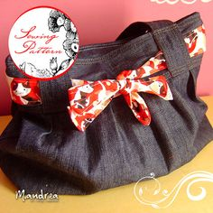 Luli shoulder bag  Sewing Pdf Pattern by sewingsweets on Etsy, $9.99