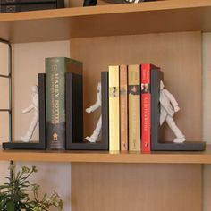 Get city slickers to walk through your books! These City Slickers Bookends feature three figurines dressed with blazers and caps. I Love Books, Good Books, Amazing Books, City Slickers, Book Holders, Palette, Book Gifts, Unique Home Decor, Book Worms