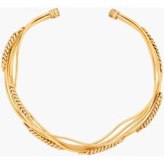 AURELIE BIDERMANN Yellow Gold-Plated Wheat Necklace ($665) ❤ liked on Polyvore