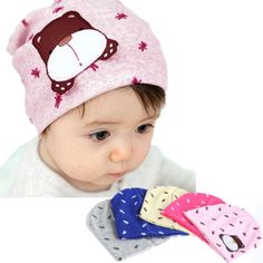 Baby hat with bear. Range of colours $1.94 from Aliexpress