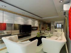 Singapore Condominium Living Room Interior Design by Posh Urban Pte. Ltd.