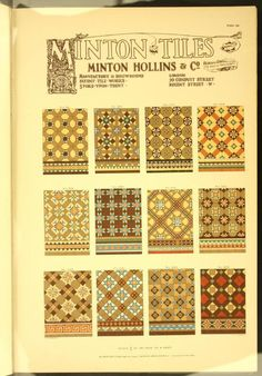 Minton tiles : Minton Hollins & Co. patent tile...