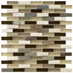 Somertile Reflections Subway Nassau Stone and Glass Mosaic Tiles (Pack of 10) | Overstock.com Shopping - Big Discounts on Somertile Wall Til...