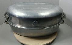 Vintage MIRRO Aluminum Roaster Turkey Ham Roasting Pan Reynolds Lifetime w/ Rack