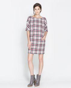 ZARA -  CHECKED DRESS
