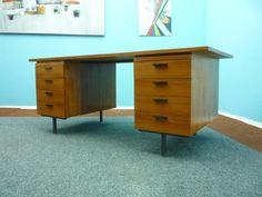 £1,256.00 +£255.00  Delivery Width: 180 cm / 71 inch Depth: 75 cm / 30 inch Height: 75 cm / 30 inch  Swedish 8-Drawer Teak Desk from Royal Board 1