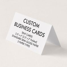 Custom personalized folded tent business cards paper gifts custom personalized folded tent business cards colourmoves