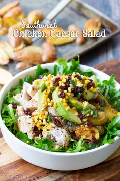 A Spicy Perspective Southwest Chicken Caesar Salad - A Spicy Perspective