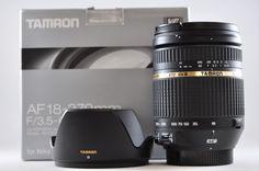 [Exc⁺⁺] TAMRON 18-270mm F3.5-6.3 Di II VC LD MACRO B003NII Black Lens For Nikon #Tamron