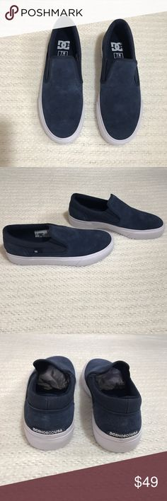 Men s Sz 7 DC Navy Trase SD Slip on Shoes New in box Men s size 7 7d959bdf2