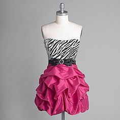 Pink and Zebra dress. I love this dress!!