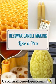 Are you interested in making beeswax candles? Beeswax Candle Making Like a Pro - Carolina Honeybees Making Beeswax Candles, Soy Candle Making, Homemade Candles, Diy Candles, Scented Candles, Menorah Candles, Candle Decorations, Candle Maker, Candle Molds