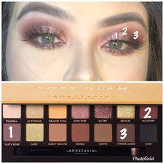 Soft glam - Makeup Tips Glam Makeup, Skin Makeup, Makeup Inspo, Makeup Inspiration, Makeup Brush, Makeup Ideas, Soft Eye Makeup, Makeup Blending, Makeup 101