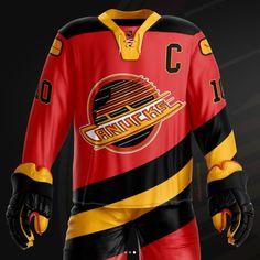 Hockey Jewelry, Ice Hockey Jersey, International Teams, Nhl Jerseys, Vancouver Canucks, Team Logo, Stars, Sweet, Sweaters