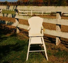 Vintage highchair in ASCP Old White