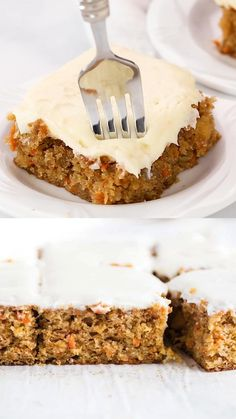 This carrot cake recipe requires only one bowl and wooden spoon required! Super moist and has the perfect amount of sweetness. The best dessert to make for Easter Sunday or any celebration! videos Carrot Cake with Cream Cheese Frosting Good Desserts To Make, Fun Desserts, Delicious Desserts, Dessert Recipes, Yummy Food, Cake With Cream Cheese, Cream Cheese Frosting, Food Cakes, Cupcake Cakes