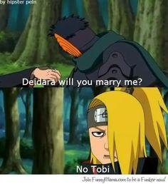 Tobi's proposal #tobi #deidara #akatsuki #funny