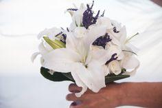 Lavendel, weisse Lilien und Rosen Ibiza, Bouquet, Crown, Bridal, Plants, White Lilies, White Roses, Lavender, Wedding