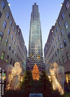 Rockefeller Center - New York, New York, United States of America. Home of the world's greatest Christmas tree.