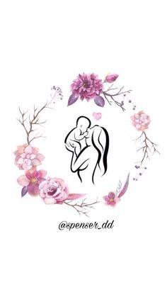 Instagram Frame, Instagram Logo, Instagram Story Ideas, Mom Tattoo Designs, Birth Art, Baby Icon, Pregnancy Art, Mother Art, Insta Icon