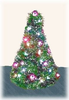 Learn how to make a recycled coat hanger Christmas tree in this free craft project. You will need six wire coat hangers for each tree.
