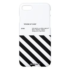 Off White iPhone Cases & Covers Iphone 8, Apple Iphone, Off White Virgil Abloh, Iphone Wallpaper Vsco, White Iphone, Iphone Accessories, New Phones, Black White Stripes, Iphone Case Covers