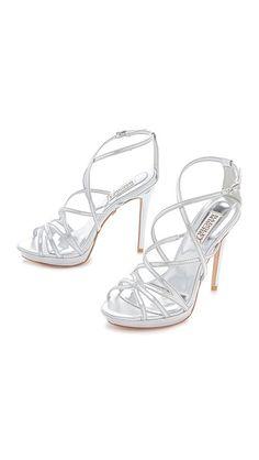 Badgley Mischka Adonis II High Heel Sandals // Shopbop ~i need silver heels for prom