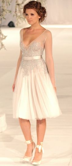 If I wanted to wear a short dress for my wedding, it would have been close to this!