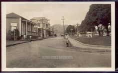 FAJARDO, Street Scene near Plaza. - Real Photo Post Card unused c. 1910 - 1920's.