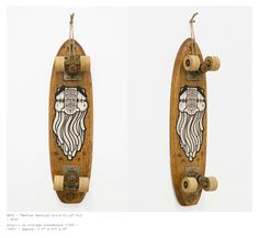 GATS x Spoke Art Gallery vintage skateboard