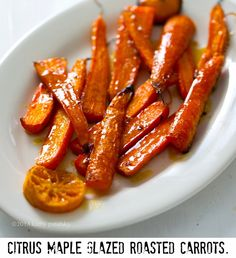 Citrus Maple Glazed Roasted Carrots