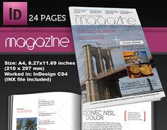 "Check out new work on my @Behance portfolio: ""24 Page InDesign Magazine A4"" http://be.net/gallery/51983989/24-Page-InDesign-Magazine-A4"