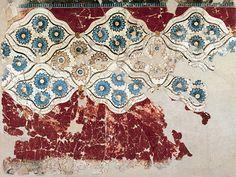 Rosettes. Fresco from the Prehistoric Site of Akrotiri