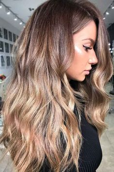 Sleek Wavy Dark Blonde Ombre #blondehair #brunette #ombre ❤️ Try out our 37 stunning ideas of dark blonde hair and get inspiration for great changes and new life. ❤️ See more: http://lovehairstyles.com/dark-blonde-hair-color-ideas/ #lovehairstyles #hair #hairstyles #haircuts