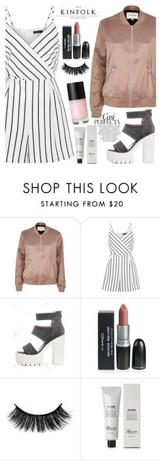 """Downtown"" by mirmir-825 ❤ liked on Polyvore featuring River Island, New Look, Whiteley, Baxter of California, romper, bomberjackets, citychic and citystyle"