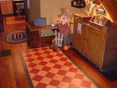 Diamond Pattern Floorcloth