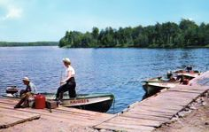 Going After the Big Ones on a Northern Lake Postcard