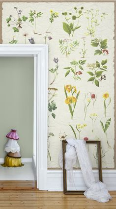 Back To School by Mr Perswall - Mural : Wallpaper Direct Floral Print Wallpaper, Botanical Wallpaper, Wall Wallpaper, Cottage Wallpaper, Photo Wallpaper, Feature Wallpaper, Beautiful Wallpaper, Flower Wallpaper, Botanical Decor