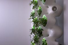 Full scale mockup of the Active Modular Phytoremediation System. This is both a visual mockup and a testing prototype we will use to collect data. It'll be installed inside SOM's office where we will track the rate of VOC removal, plants' behavior and lighting requirements, and the automation of lighting, moisture sensing and irrigation systems.