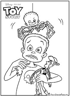 Sid Toy Story Coloring Pages Disney Coloring Pages Printables, Free Printable Coloring Sheets, Coloring Sheets For Kids, Kids Coloring, Toy Story 1995, Toy Story Movie, Toy Story Party, Toy Story Coloring Pages, Bible Coloring Pages