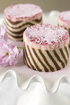Lemon & Rhubarb Mousse Cakes